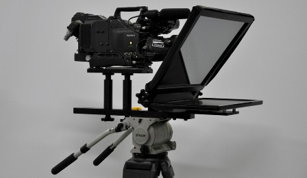 17 inch teleprompter with real glass